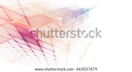 Abstract background element. Fractal graphics series. Three-dimensional composition of repeating grids. Information technology concept.