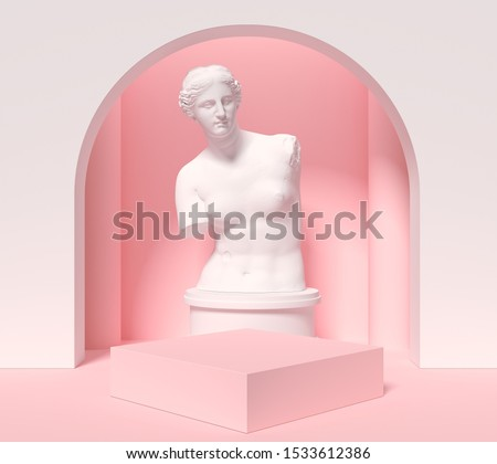 abstract background for product presentation, podium display, minimal pastel 3d scene, 3d rendering. Foto stock ©