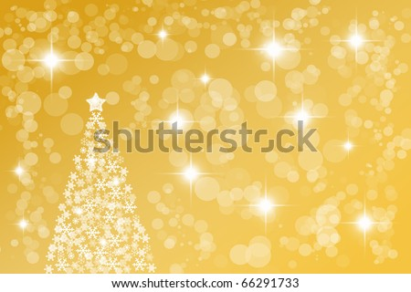 Abstract background for themed flyers with Christmas tree - stock photo