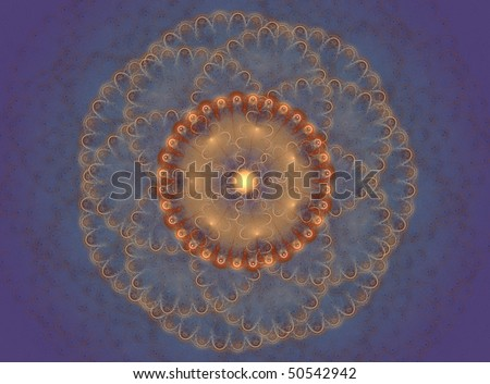 Abstract Background Fractal design of an imaginary jellyfish