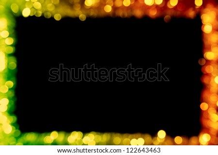 abstract background frame, defocused lights - stock photo
