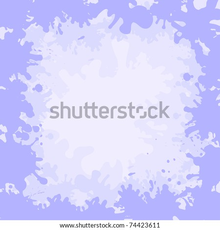 Abstract background, frame from lilac and white stains blots