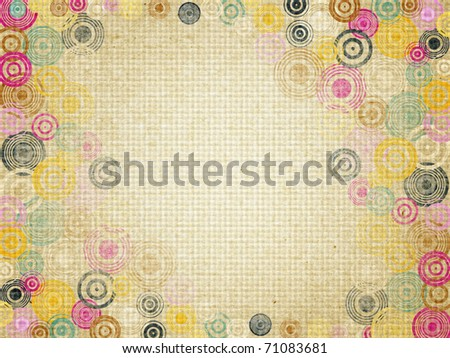 Abstract background from circles on a background grunge
