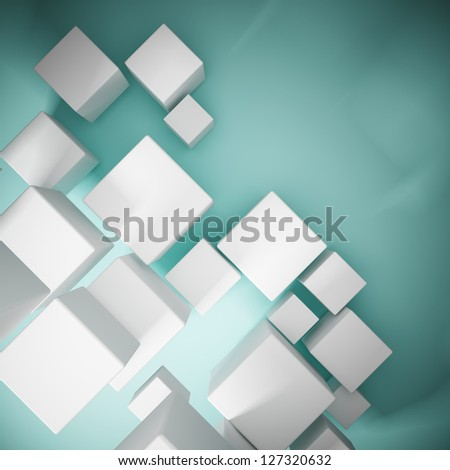 Abstract background from cubes