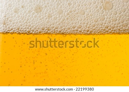 Abstract background from fresh foamy beer
