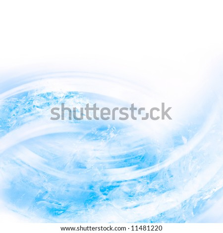 Abstract background from pieces of melting ice - stock photo