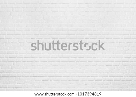 Abstract background from white clean brick pattern on wall. Vintage and retro backdrop. Picture for add text message. Backdrop for design art work.
