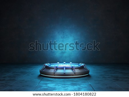 Abstract background, Futuristic pedestal for product presentation, Display modern. 3D illustration Zdjęcia stock ©