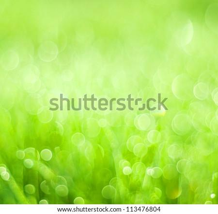 abstract background green bokeh circles