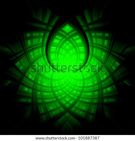 Abstract background green white heart
