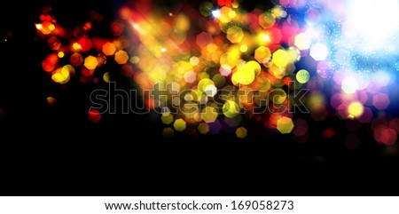 Abstract background.Holiday.Party. Golden Abstract Backdrop with Lights