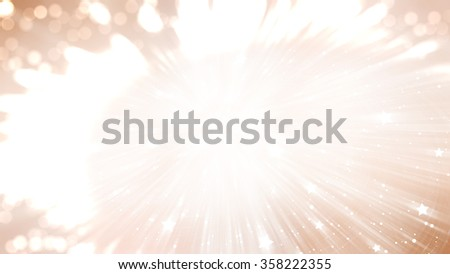 Abstract background holidays lights in motion blur brown image #358222355