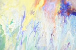 Abstract background image in pastel tones unicorn with light purple, light green, texture with golden sparkle.
