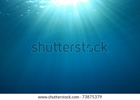 Abstract background image of Sunburst on the Ocean Surface