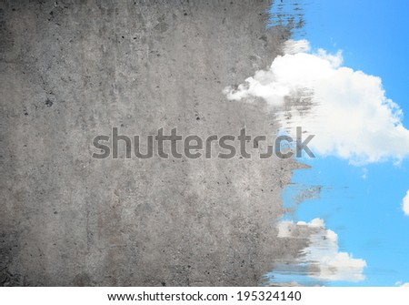Abstract background image with colorful painting at wall