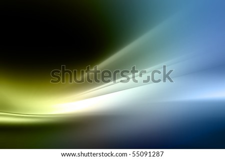 Abstract background in blue and green tones.