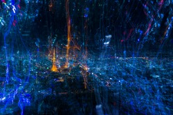 abstract background in night city , Tokyo Japan