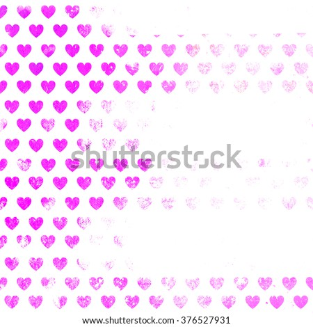 Abstract background In the form of hearts