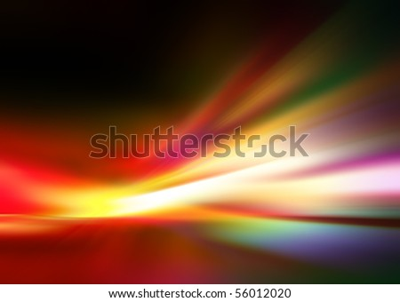 Abstract background in yellow, red, orange, green and purple tones.