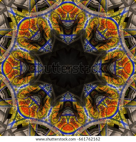 Abstract Background Kaleidoscope Pattern For Different Purposes - Ceramic tile scraps