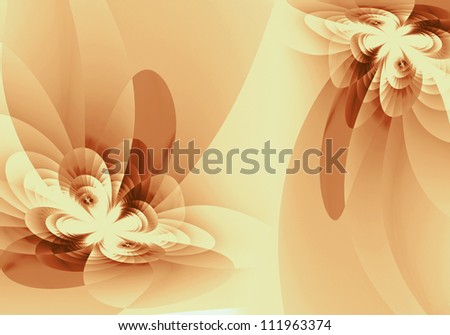 Abstract background light shade. Delicate flower fractal