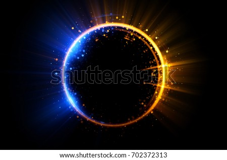 Royalty Free Double Neon Blue Glittering Star Dust