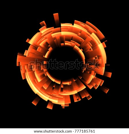 Stock Photo Abstract background. luminous swirling. Elegant glowing circle. Big data cloud. Light ring.