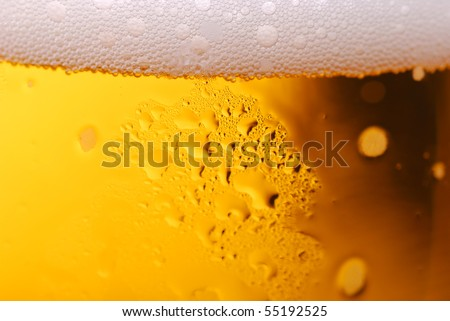 Abstract background macro closeup of beer