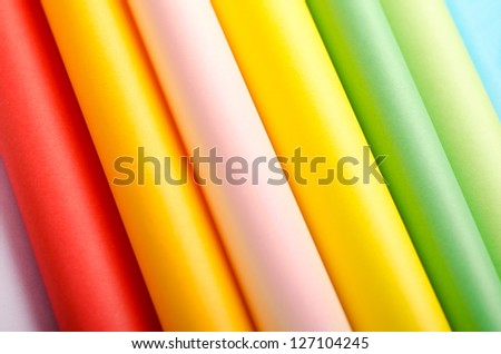 Abstract background made of folded colorful paper