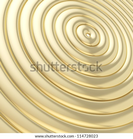 Abstract background made of glossy shiny golden hoop torus rings