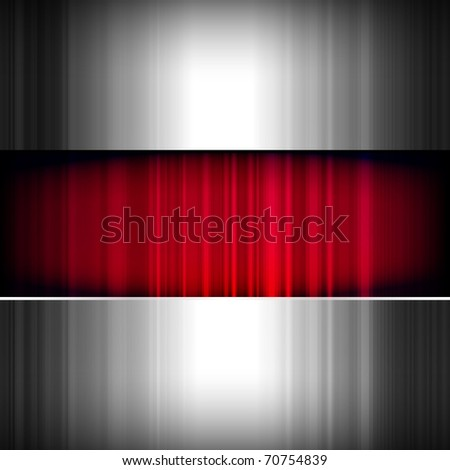 Abstract background, metallic and red.