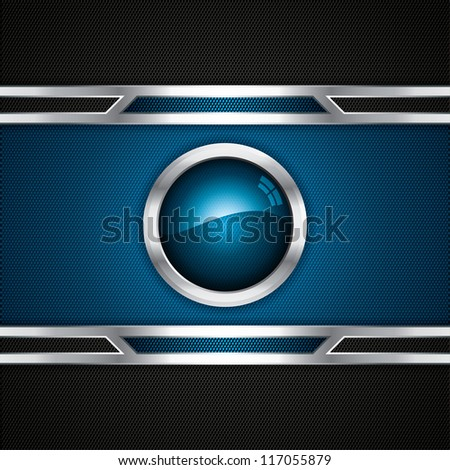 Abstract background, metallic blue brochure