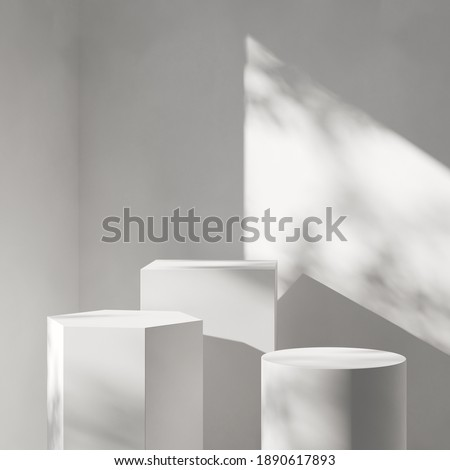 Abstract background minimal style for branding product presentation. Mock up scene with empty space. 3d rendering Foto stock ©