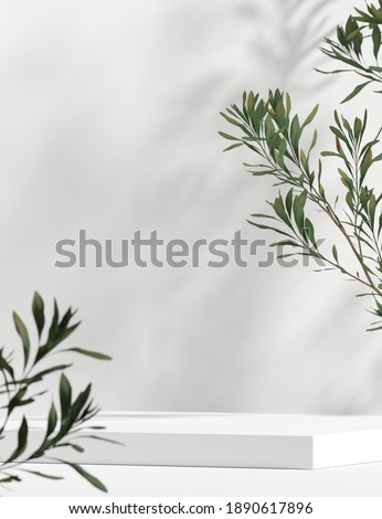 Abstract background minimal style for branding product presentation. Mock up scene with empty space. 3d rendering