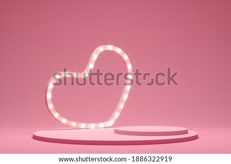 Abstract background minimal style for branding product presentation on Valentine's day. Mock up scene with empty space. 3d rendering stock photo