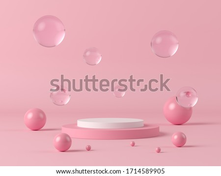 Abstract background, mock up scene geometry shape podium for product display. 3D rendering