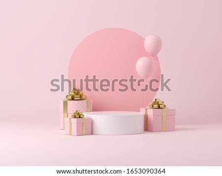 Abstract background, mock up scene geometry shape podium for product display or celebrate. 3D rendering