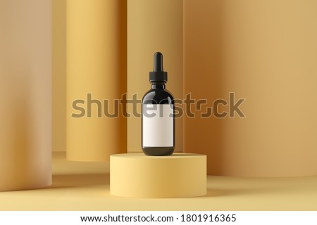 Abstract background, mock up scene with podium geometry shape for product display. 3D rendering stock photo