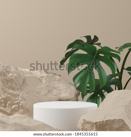 Abstract background, mock up scene with podium geometry shape for product display. 3D rendering Foto d'archivio ©
