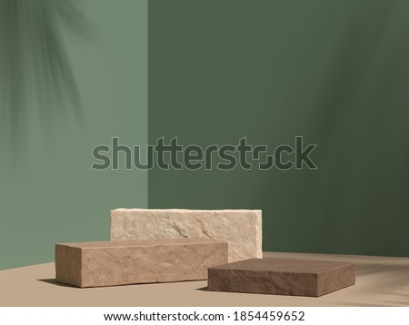 Abstract background, mock up scene with podium geometry shape for product display. 3D rendering
