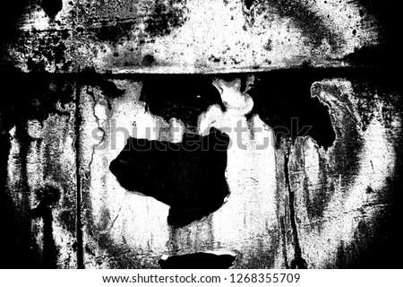 Abstract background. Monochrome texture. Image includes a effect the black and white tones. #1268355709