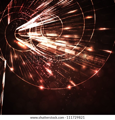 Abstract background, motion lines, futuristic illustration