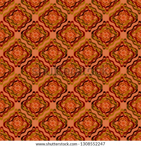 Abstract background multicolored geometric weave pattern seamless.
