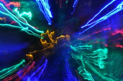 Abstract background. Neon lights. Glowing lines. Night light. Electricity. Cosmic lights.