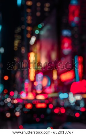 Abstract background New York night, neon lights #632013767