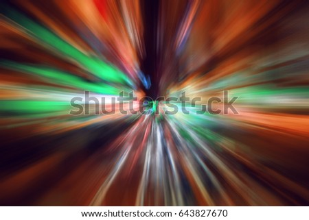 Abstract background New York night, neon lights energy, motion zoom blur effect background,explosion effect #643827670