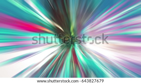 Abstract background New York night, neon lights energy, motion zoom blur effect background, explosion effect #643827679