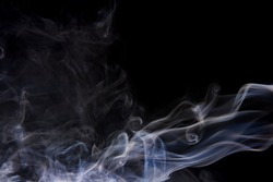 Abstract background of beautiful color smoke waves on isolated background
