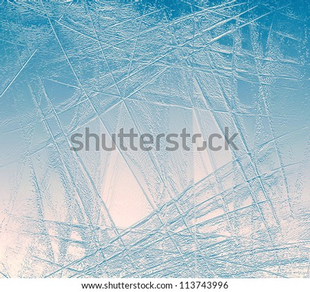 Abstract background of blue and red ice surface