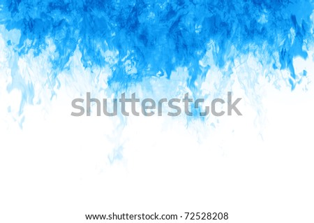 Abstract background of blue washing into white